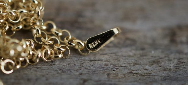 BENEVOLENTI halskette 1.8mm rolo in vergoldetem 925 Silber
