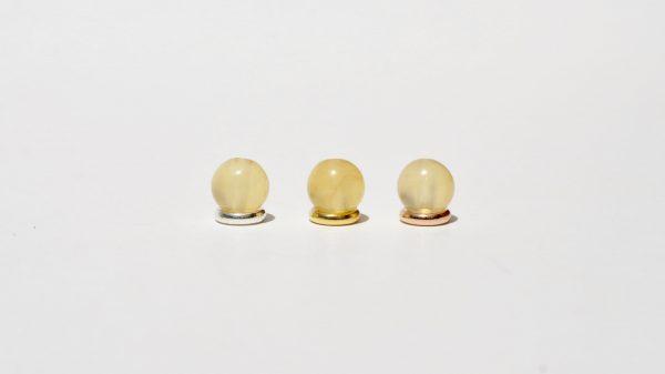 Calcit gelb kombiniert mit 925 Silber vergoldet und rosé-vergoldet