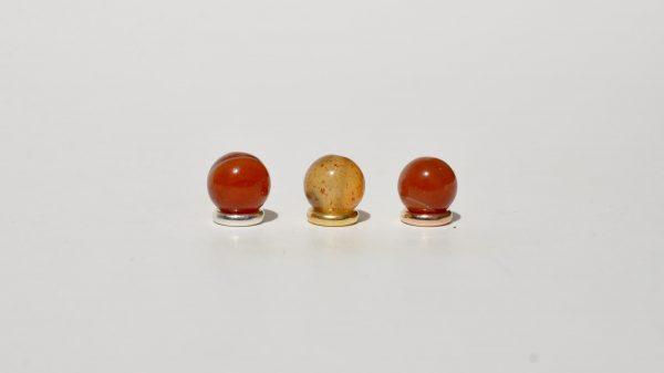 Karneol kombiniert mit 925 Silber vergoldet und rosé-vergoldet
